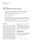 """Báo cáo hóa học: """" Research Article Adaptive Algorithm for Chirp-Rate Estimation"""""""
