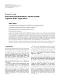"""Báo cáo hóa học: """"Research Article Blind Detection of Wideband Interference for Cognitive Radio Applications"""""""