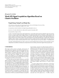 """Báo cáo hóa học: """"Research Article Weak GPS Signal Acquisition Algorithm Based on Chaotic Oscillator"""""""