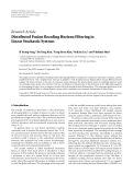 """Báo cáo hóa học: """"Research Article Distributed Fusion Receding Horizon Filtering in Linear Stochastic Systems"""""""