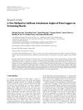 """Báo cáo hóa học: """"Research Article A New Method to Calibrate Attachment Angles of Data Loggers in Swimming Sharks"""""""