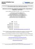 "Báo cáo hóa học: "" Melioidosis presenting with mediastinal lymphadenopathy masquerading as malignancy: a case report"""