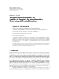 """Báo cáo hóa học: """" Research Article Integrodifferential Inequality for Stability of Singularly Perturbed Impulsive Delay """""""