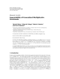 """Báo cáo hóa học: """"Research Article Superstability of Generalized Multiplicative Functionals"""""""