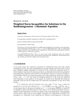 """Báo cáo hóa học: """"Research Article Weighted Norm Inequalities for Solutions to the Nonhomogeneous A-Harmonic Equation"""""""