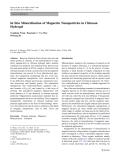 """Báo cáo hóa học: """" In Situ Mineralization of Magnetite Nanoparticles in Chitosan Hydrogel"""""""