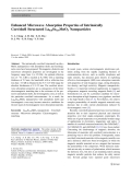 """Báo cáo hóa học: """"Enhanced Microwave Absorption Properties of Intrinsically Core/shell Structured La0.6Sr0.4MnO3 Nanoparticles"""""""