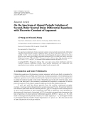 """Báo cáo hóa học: """" Research Article On the Spectrum of Almost Periodic Solution of Second-Order Neutral Delay Differential Equations with Piecewise Constant of Argument"""""""