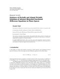 """Báo cáo hóa học: """" Research Article Existence of Periodic and Almost Periodic Solutions of Abstract Retarded Functional """""""