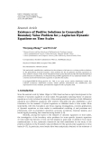 """Báo cáo hóa học: """" Research Article Existence of Positive Solutions in Generalized Boundary Value Problem for p-Laplacian """""""