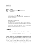 """Báo cáo hóa học: """"  Research Article First-Order Singular and Discontinuous Differential Equations"""""""
