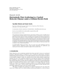 """Báo cáo hóa học: """" Research Article Electroelastic Wave Scattering in a Cracked Dielectric Polymer under a Uniform Electric Field"""""""