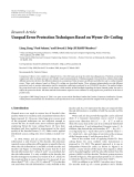 """Báo cáo hóa học: """"Research Article Unequal Error Protection Techniques Based on Wyner-Ziv Coding"""""""