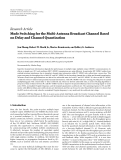 """Báo cáo hóa học: """"Research Article Mode Switching for the Multi-Antenna Broadcast Channel Based on Delay and Channel Quantization"""""""