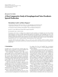 """Báo cáo hóa học: """"Research Article A First Comparative Study of Oesophageal and Voice Prosthesis Speech Production"""""""