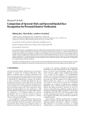 "Báo cáo hóa học: "" Research Article Comparison of Spectral-Only and Spectral/Spatial Face Recognition for Personal Identity Verification"""