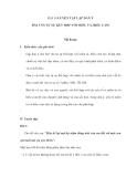 BÀI 10 LUYỆN TẬP LẬP DÀN Ý BÀI VĂN TỰ SỰ KẾT HỢP VỚI MIÊU TẢ, BIỂU CẢM