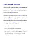 Quy tắc trong nghệ thuật bonsai