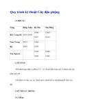 Quy trình kỹ thuật Cây đậu phộng
