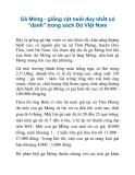 """Gà Móng - giống vật nuôi duy nhất có """"danh"""" trong sách Đỏ Việt Nam"""