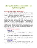Hướng dẫn kỹ thuật sản xuất lúa lai Nghi hương 2308