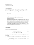 "báo cáo hóa học:""   Research Article Entire Solutions for a Quasilinear Problem in the Presence of Sublinear and Super-Linear Terms"""