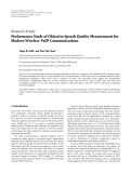 "báo cáo hóa học:""  Research Article Performance Study of Objective Speech Quality Measurement for Modern Wireless-VoIP """