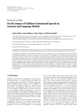 """báo cáo hóa học:""""  Research Article On the Impact of Children's Emotional Speech on Acoustic and Language Models"""""""