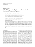 """báo cáo hóa học:""""  Research Article A New Technique for the Digitization and Restoration of Deteriorated Photographic Negatives"""""""