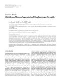 "báo cáo hóa học:""   Research Article Multichannel Texture Segmentation Using Bamberger Pyramids"""