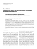 """báo cáo hóa học:""""   Research Article Human Motion Analysis via Statistical Motion Processing and Sequential Change Detection"""""""