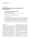 """báo cáo hóa học:""""   Research Article Optical Music Recognition for Scores Written in White Mensural Notation"""""""