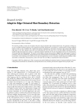 """báo cáo hóa học:""""  Research Article Adaptive Edge-Oriented Shot Boundary Detection"""""""