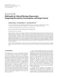 "báo cáo hóa học:""   Research Article Multimedia in Cultural Heritage Manuscripts: Integrating Description, Transcription, and Image Content"""