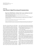 """báo cáo hóa học:""""   Editorial Game Theory in Signal Processing and Communications"""""""