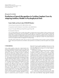 """báo cáo hóa học:""""   Research Article Prediction of Speech Recognition in Cochlear Implant Users by Adapting Auditory Models to Psychophysical Data"""""""