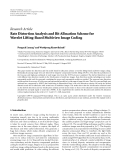 "báo cáo hóa học:""   Research Article Rate Distortion Analysis and Bit Allocation Scheme for Wavelet Lifting-Based Multiview Image Coding"""