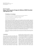 "báo cáo hóa học:""  Research Article Robust THP Transceiver Designs for Multiuser MIMO Downlink with Imperfect CSIT"""