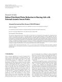 "báo cáo hóa học:""  Research Article Robust Distributed Noise Reduction in Hearing Aids with External Acoustic Sensor Nodes"""