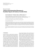 "báo cáo hóa học:""   Research Article Analysis of Synchronization Phenomena in Broadband Signals with Nonlinear Excitable Media"""