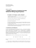 """Báo cáo hóa học: """"Review Article T -Stability Approach to Variational Iteration Method for Solving Integral Equations"""""""