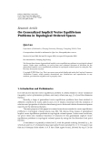 """Báo cáo hóa học: """"Research Article On Generalized Implicit Vector Equilibrium Problems in Topological Ordered Spaces"""""""