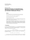 "Báo cáo hóa học: ""Research Article Equivalent Extensions to Caristi-Kirk's Fixed Point Theorem, Ekeland's Variational Principle, and Takahashi's Minimization Theorem"""