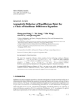 """Báo cáo hóa học: """"Research Article Asymptotic Behavior of Equilibrium Point for a Class of Nonlinear Difference Equation"""""""