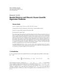 "Báo cáo hóa học: ""Research Article Banded Matrices and Discrete Sturm-Liouville Eigenvalue Problems"""