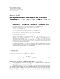 """Báo cáo hoa học: """" Research Article On Boundedness of Solutions of the Difference Equation xn 1 pxn qxn−1 / 1 xn for q  1 p  1"""""""