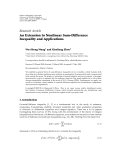 """Báo cáo hoa học: """"Research Article An Extension to Nonlinear Sum-Difference Inequality and Applications"""""""