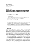 "Báo cáo hoa học: "" Research Article Asymptotic Behavior of Impulsive Infinite Delay Difference Equations with Continuous Variable"""