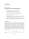"""Báo cáo hoa học: """" Research Article On Approximate Cubic Homomorphisms"""""""