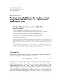 """Báo cáo hoa học: """"Research Article Nonlocal Controllability for the Semilinear Fuzzy Integrodifferential Equations in n-Dimensional Fuzzy Vector Space"""""""